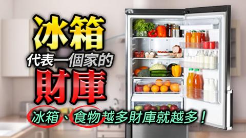 冰箱代表一個家的財庫 冰箱、食物越多 財庫就越多!---張定瑋老師
