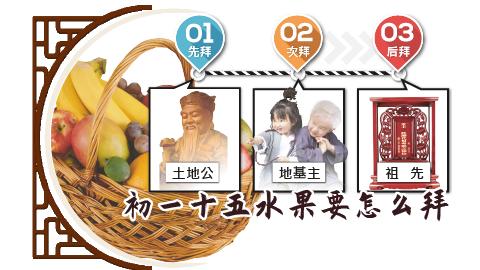 初一、十五水果怎么拜?
